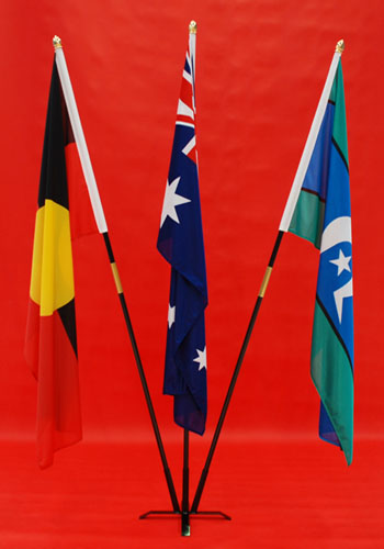 Hire Flagpole 3 Flag Indoor Flagpole display Stand By Adwareflags.com